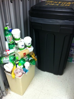 Seriously, wastebin jenga is like bumper bowling-- hella fun, but impossible to suck at.